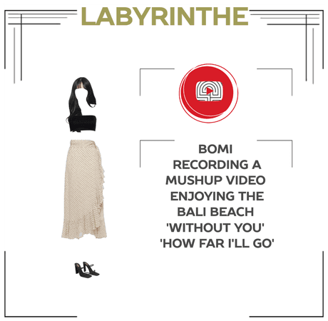 LABYRINTHE bomi recorded a mushup video