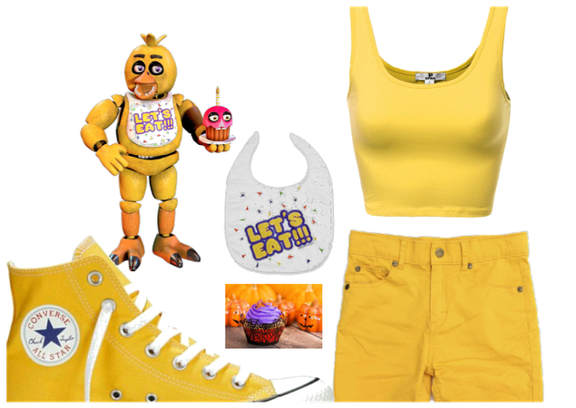 chica five nights at freddy's inspired oufit