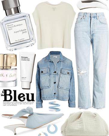en bleu pastel