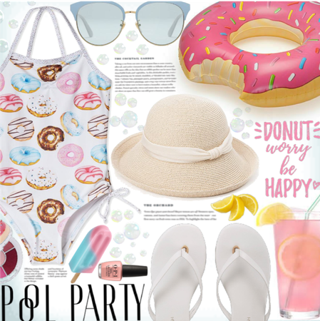 Donut pool party