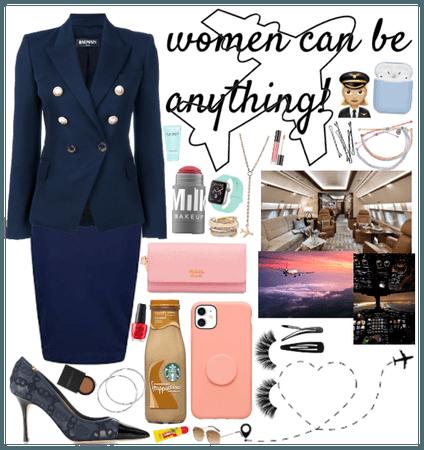 Women can do anything (flight attendant)