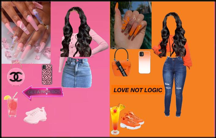 Pink vs orange