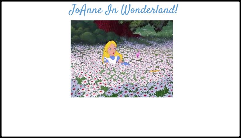 JoAnne In Wonderland