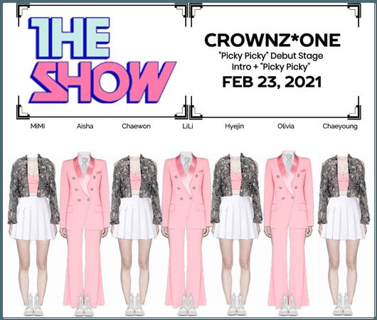 "CROWNZ*ONE ""Picky Picky"" Debut Stage"
