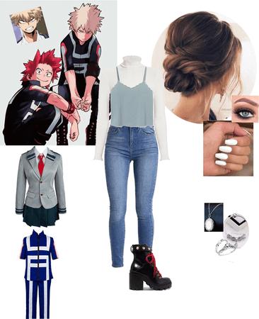 casual outing with class 1-A (Boku no Hero Academia)