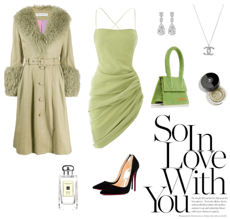 chic night time dress look