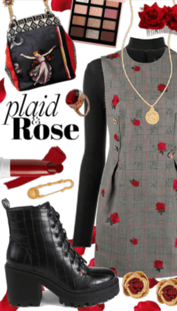 Plaid & Rose