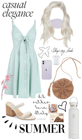 mint and lilac European summer outfit