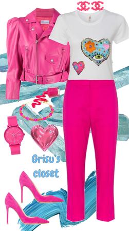 80 Playera bordada a mano corazón a corazón edición exclusiva Grisu's Closet