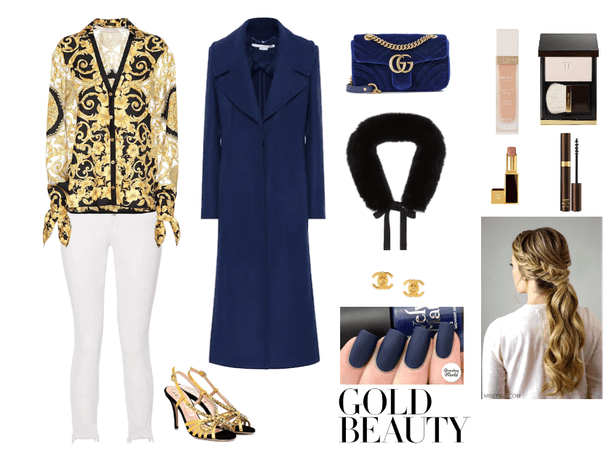 The Sophisticated - Gold & Deep Blue