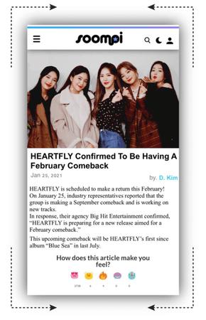 𝐇𝐄𝐀𝐑𝐓𝐅𝐋𝐘 [하트플라이요] HEARTFLY SOOMPI ARTICLE