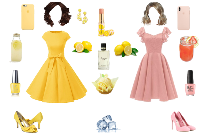 Pink and Yellow Lemonade