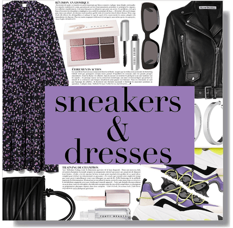 dress & sneakers mood 💜