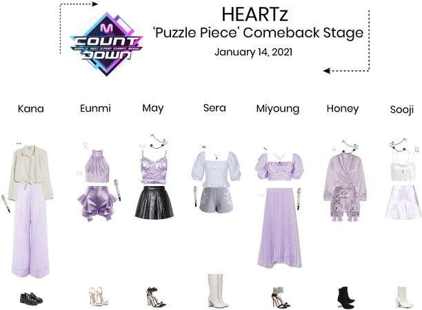 HEARTz//'Puzzle Piece' MCOUNTDOWN Comeback Stage