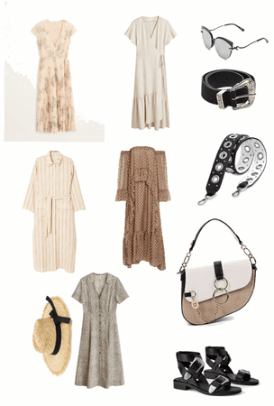 summer dress and accessory based boho styled capsule