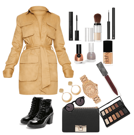 trenchcoat dress