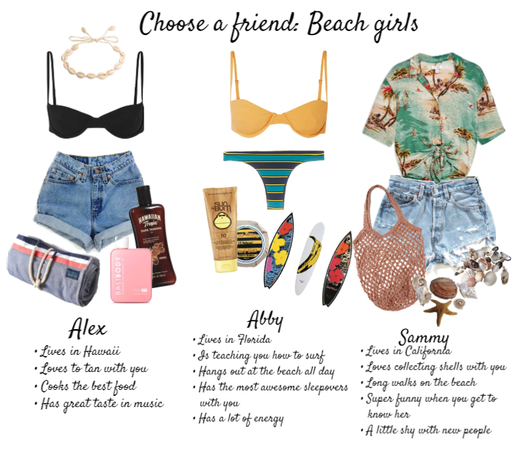 Choose a Friend: beach girls