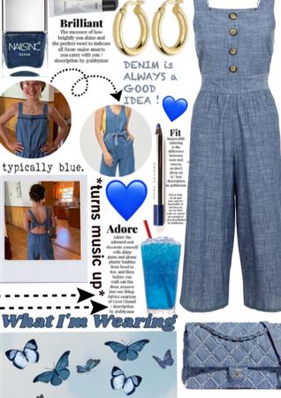 Denim romper| What in wearing