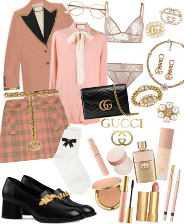 Gucci Gold, Pink, and Black