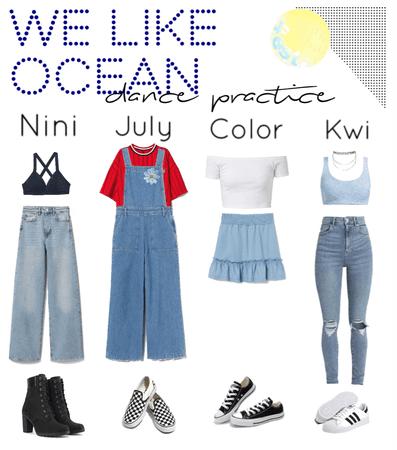 We Like Ocean||dance practice outfits||[4est]•