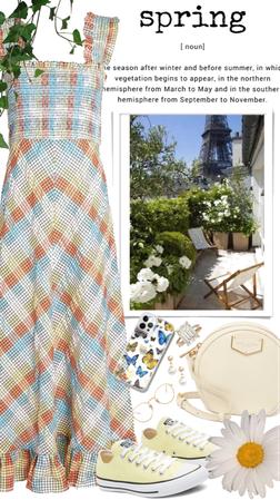 Spring Checkered dress