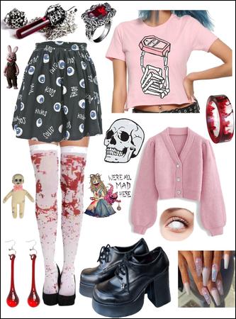 Creepy Cute Bloody Pink