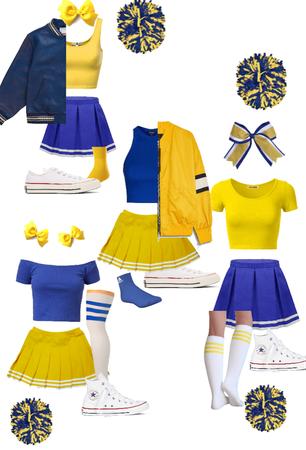 Yellow + Blue Cheer inspired