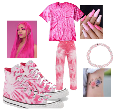 pink shoes outfit challenge