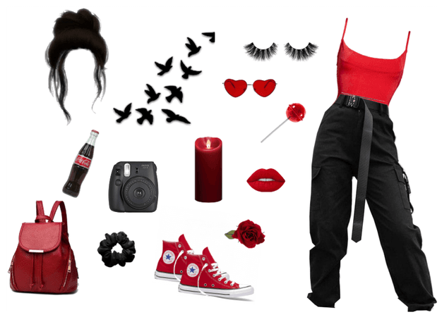 Red Black Goth