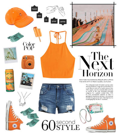 orange carnival outfit