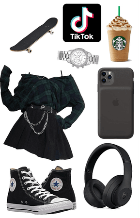 school bad girl outfit