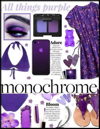 purple summer monochrome