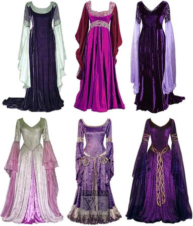 Elven Princess Aranel's Gowns