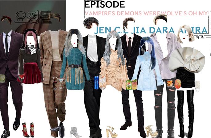 FAIRYTALE EPISODE 7: VAMPIRES DEMONS WEREWOLVE'S OH MY! | JEN & LUCI. CL & MIK. DARA &. AKIRA & WADE SCENES