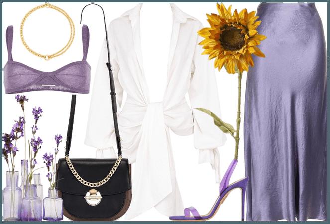 white, lilac & gold