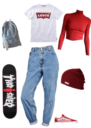 skater girl •red•