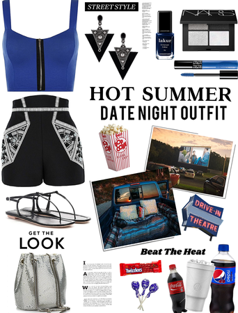 Hot summer date nite outfit. drive in movie