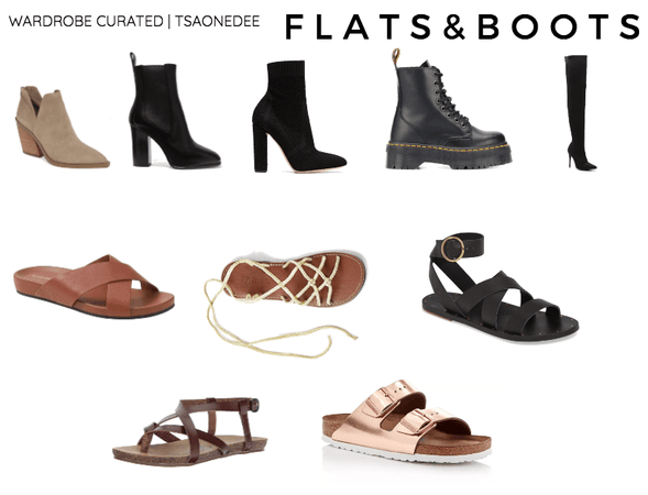 FLATS AND BOOTS