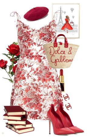 Red Girl In Paris