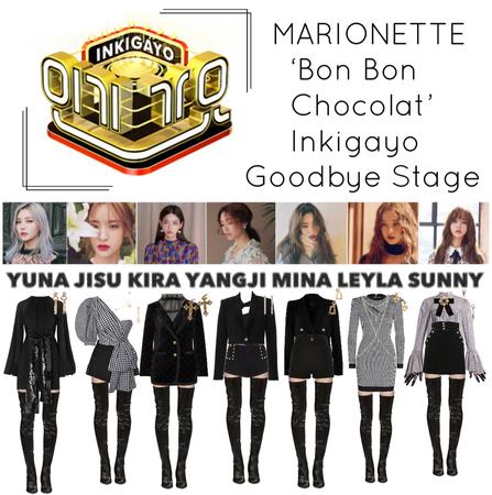 {MARIONETTE} 'Bon Bon Chocolat' Inkigayo Goodbye Stage