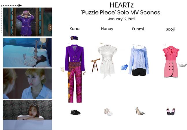 HEARTz//Puzzle Piece Solo MV Scenes