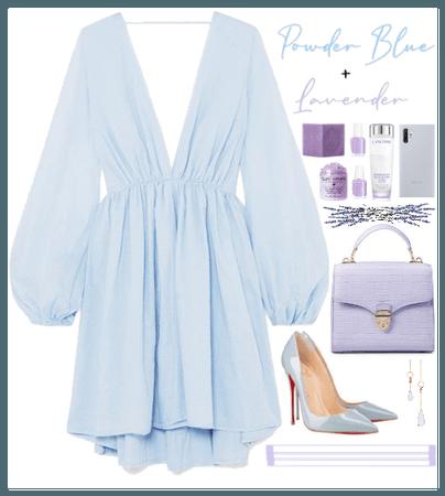 Powder Blue+ Lavender