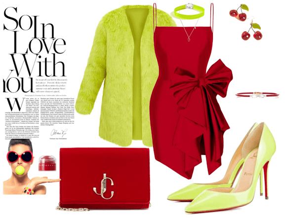 lime and red glam