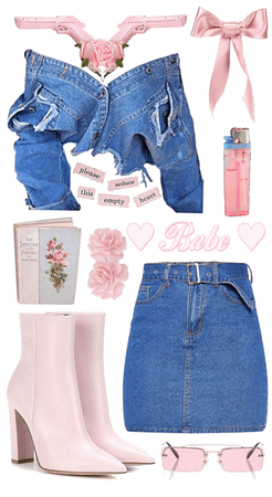 pink denim babygirl