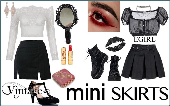 Miniskirts: vintage vs. egirl