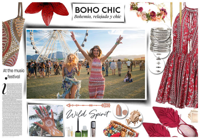 Boho chic at the music festival