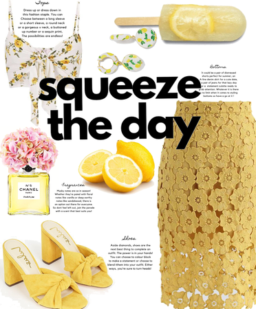 Spring Pencil Skirt : Squeeze The Day