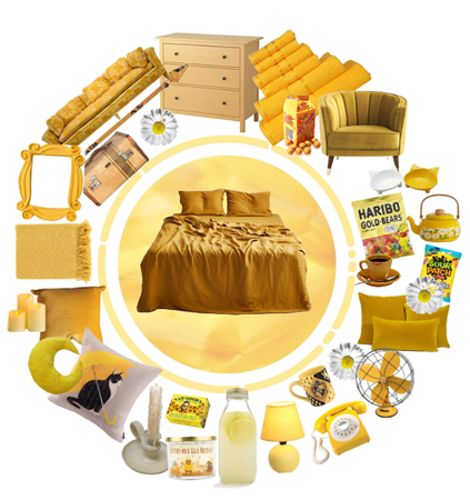Hufflepuff Inspired Bedroom