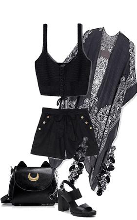 Cute Kimono Outfit