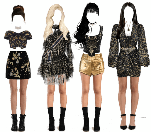 BLACK GOLD STAGE OUTFIT